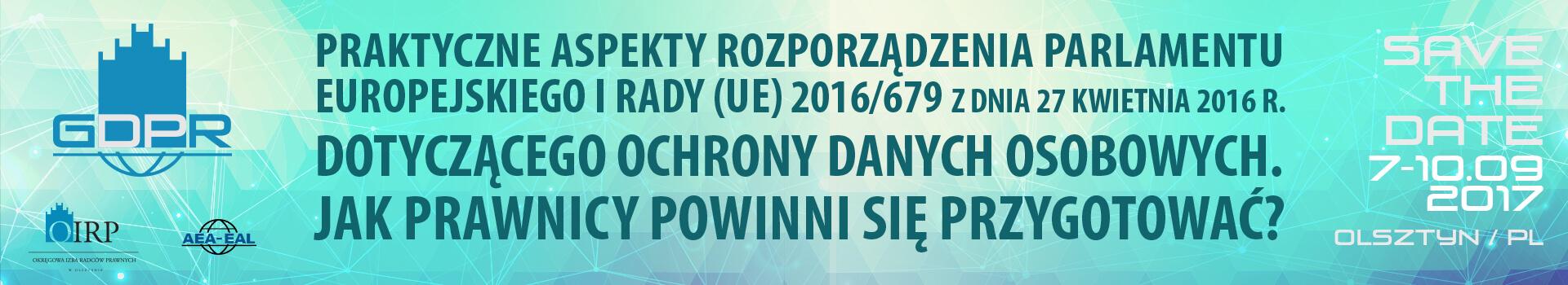 Konferencja GDPR 2017 Olsztyn